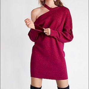 """EXPRESS """"cold shoulder"""" sweater dress"""